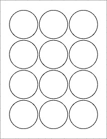 "1 25 Inch button Template 2 25"" Circle Labels Ol8750"