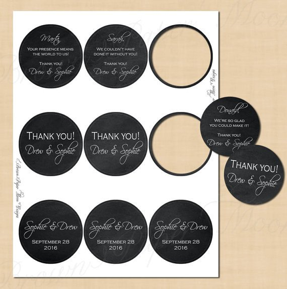 1 Inch Circle Label Template Chalkboard Round Labels 2 5 Text Editable Printable