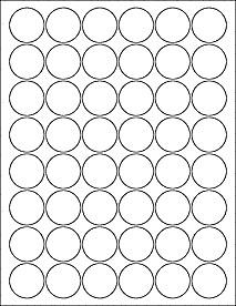 "1 Inch Circle Template 1 25"" Circle Labels Ol3012"