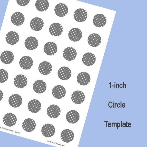 1 Inch Circle Template 1 Inch Circle Template Digital Download