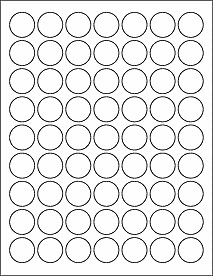 "1 Inch Circle Template 1"" Circle Labels Ol1025"