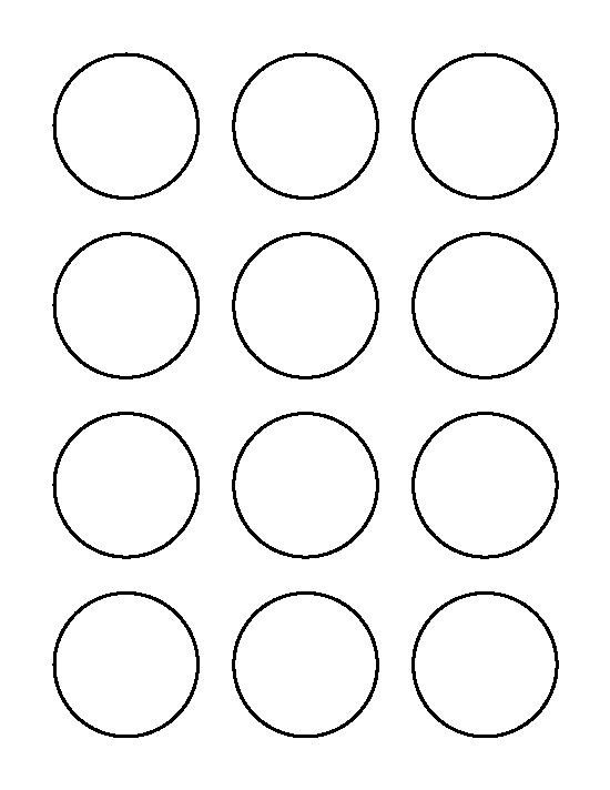1 Inch Circle Template 2 Inch Circle Pattern Use the Printable Outline for