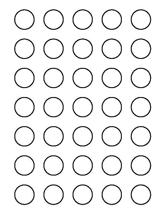 1 Inch Circle Template 25 Of Circle Eyes Template
