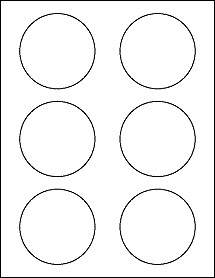 """1 Inch Circle Template 3 Inch Round Labels 3"""" Circle Stickers Ol2279 3"""" Circle"""