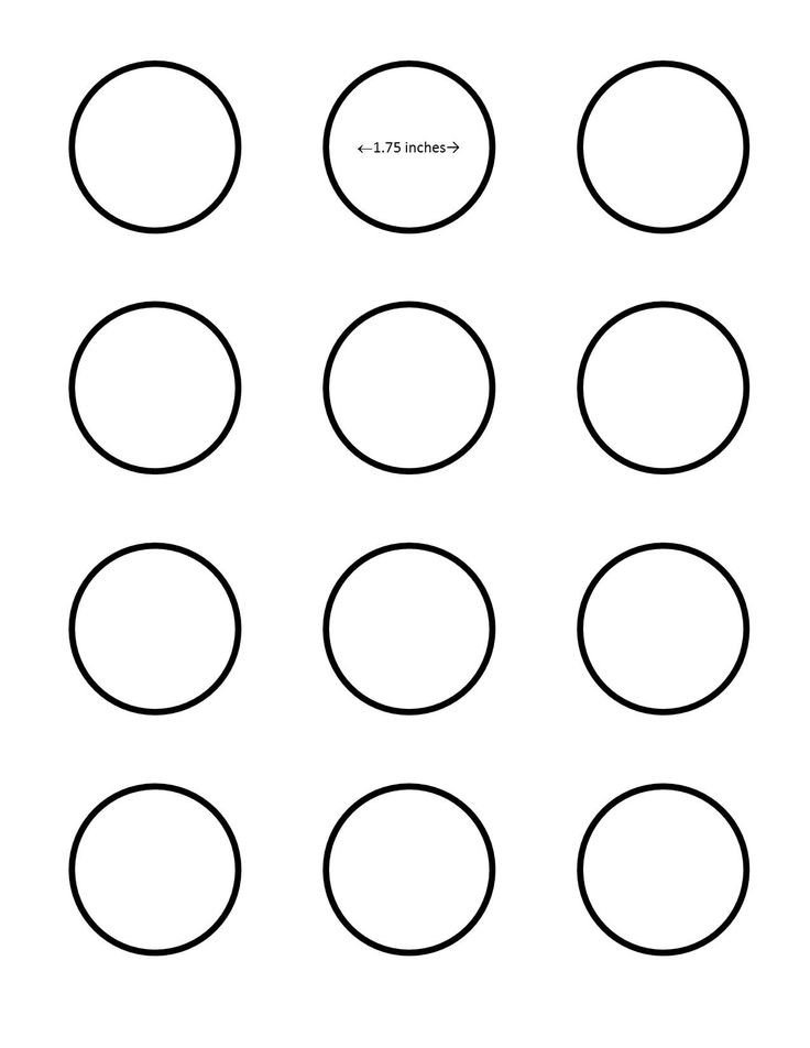 1 Inch Circle Template All Sizes