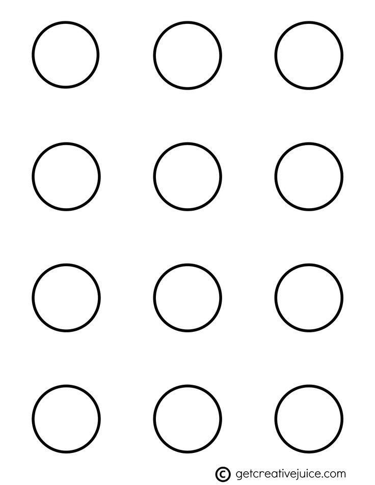 1 Inch Circle Template Circle 1 5 Inch Macaron Template