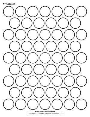 1 Inch Circle Template Circle Templates Blank Shape Templates