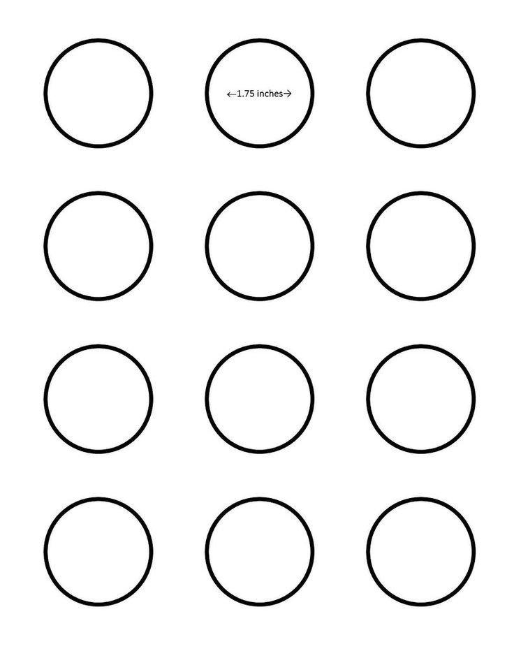 1 Inch Circle Template Macaron 1 75 Inch Circle Template Google Search I Saved