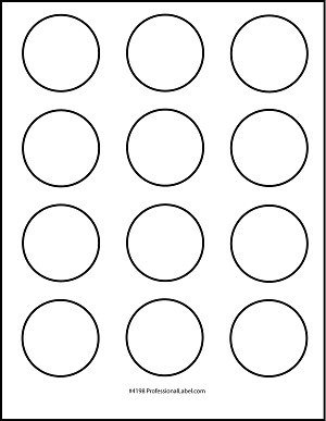 1 Inch Circle Template Matte White Printable Sticker Labels 250 Sheets 2 Inch