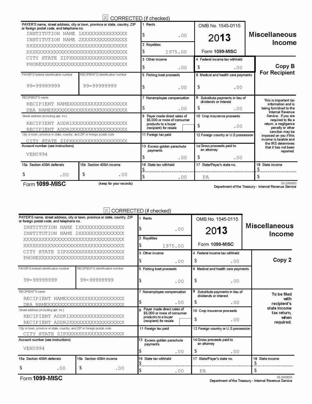 1099 Int Template Word 1099 Word Template Free Templates