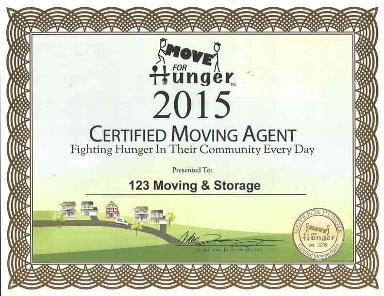 123 Awards Certificates Awards & Certificates 123 Moving & Storage