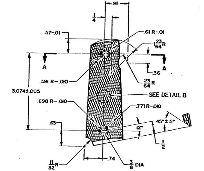 1911 Grip Template Anybody Else Make Pistol Grips General Woodworking Talk