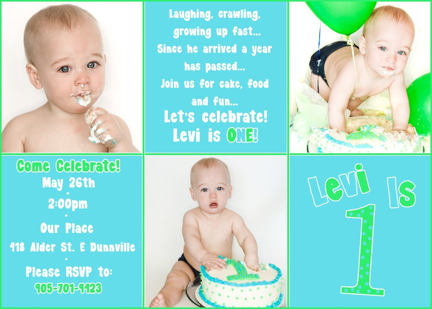 1st Birthday Invitation Template Boy First Birthday Invitation Templates