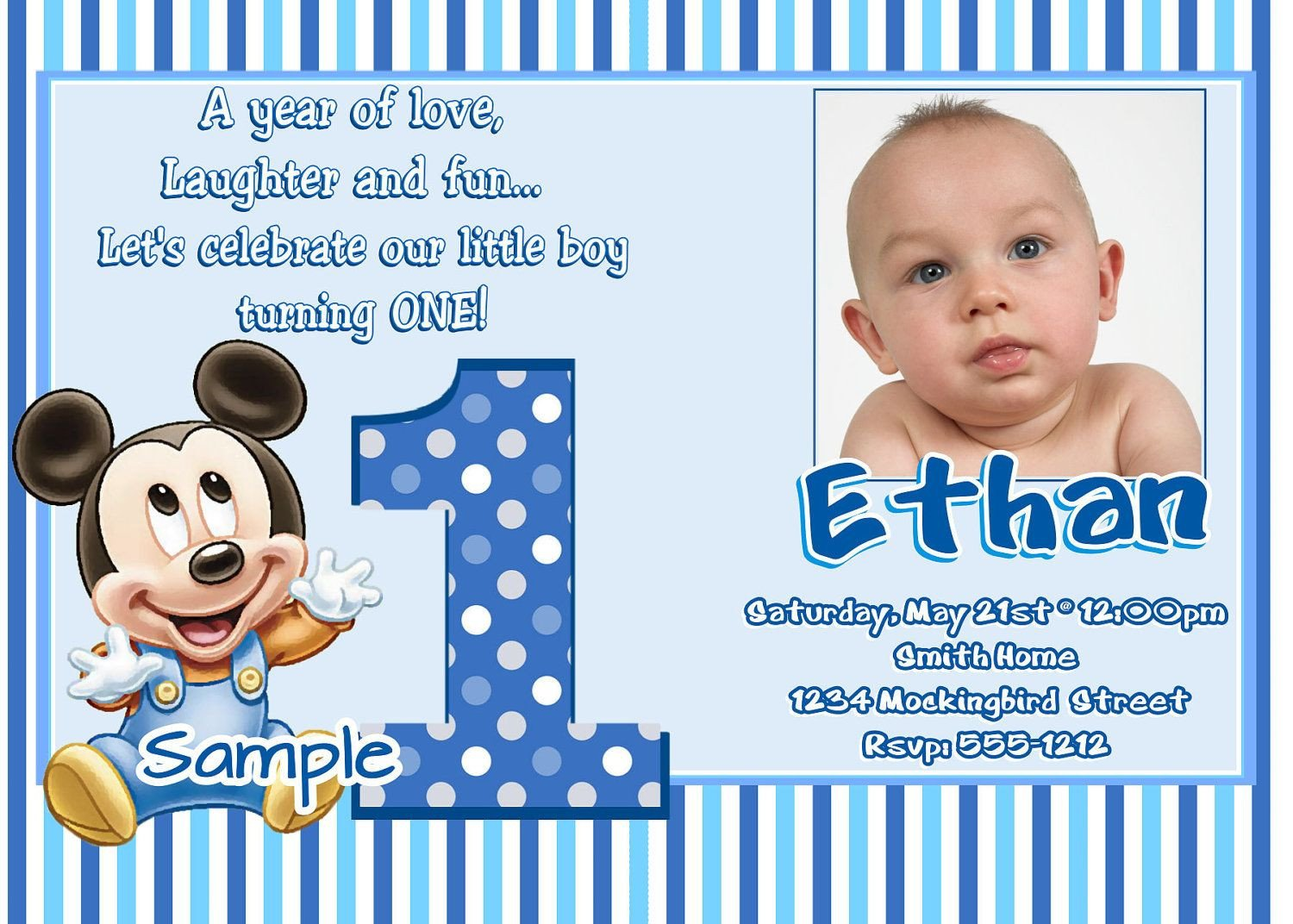 1st Birthday Invitation Template Free 1st Birthday Invitation Maker