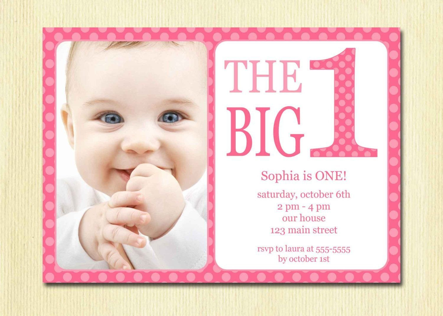 1st Birthday Invitation Template Free Printable 1st Birthday Invitation Template
