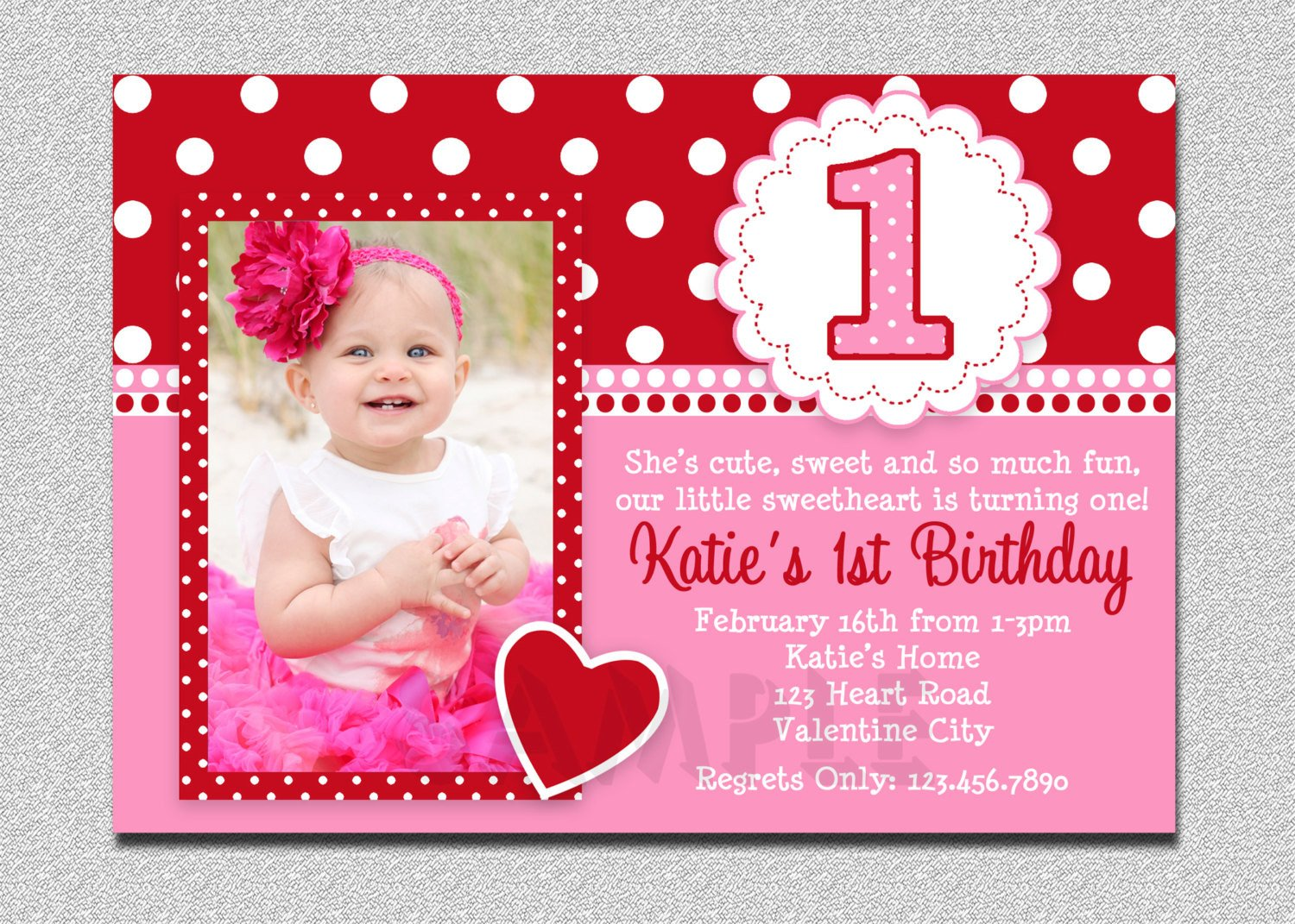 1st Birthday Invitation Template Free Printable 1st Birthday Invitations Girl – Free
