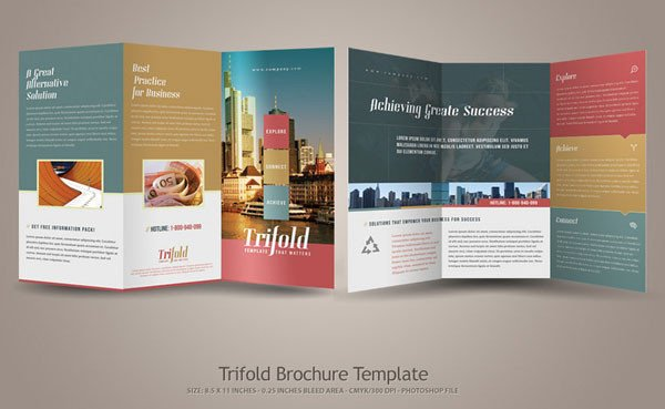 3 Fold Brochures Templates 20 Simple yet Beautiful Brochure Design Inspiration