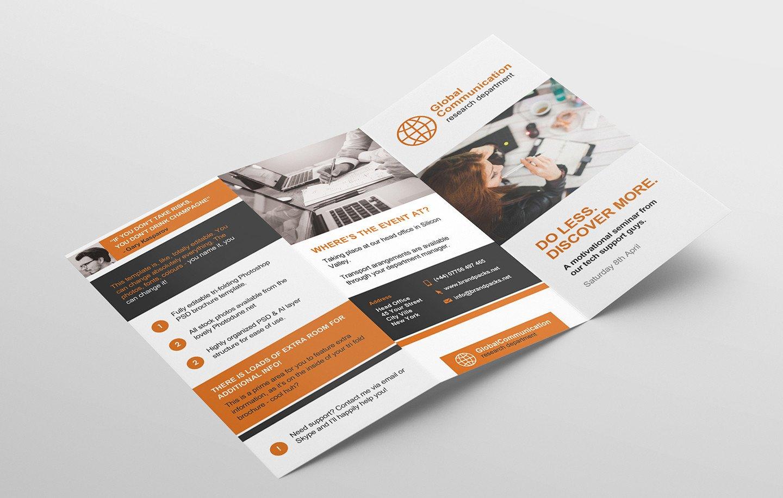 3 Fold Brochures Templates Free 3 Fold Brochure Template for Shop & Illustrator