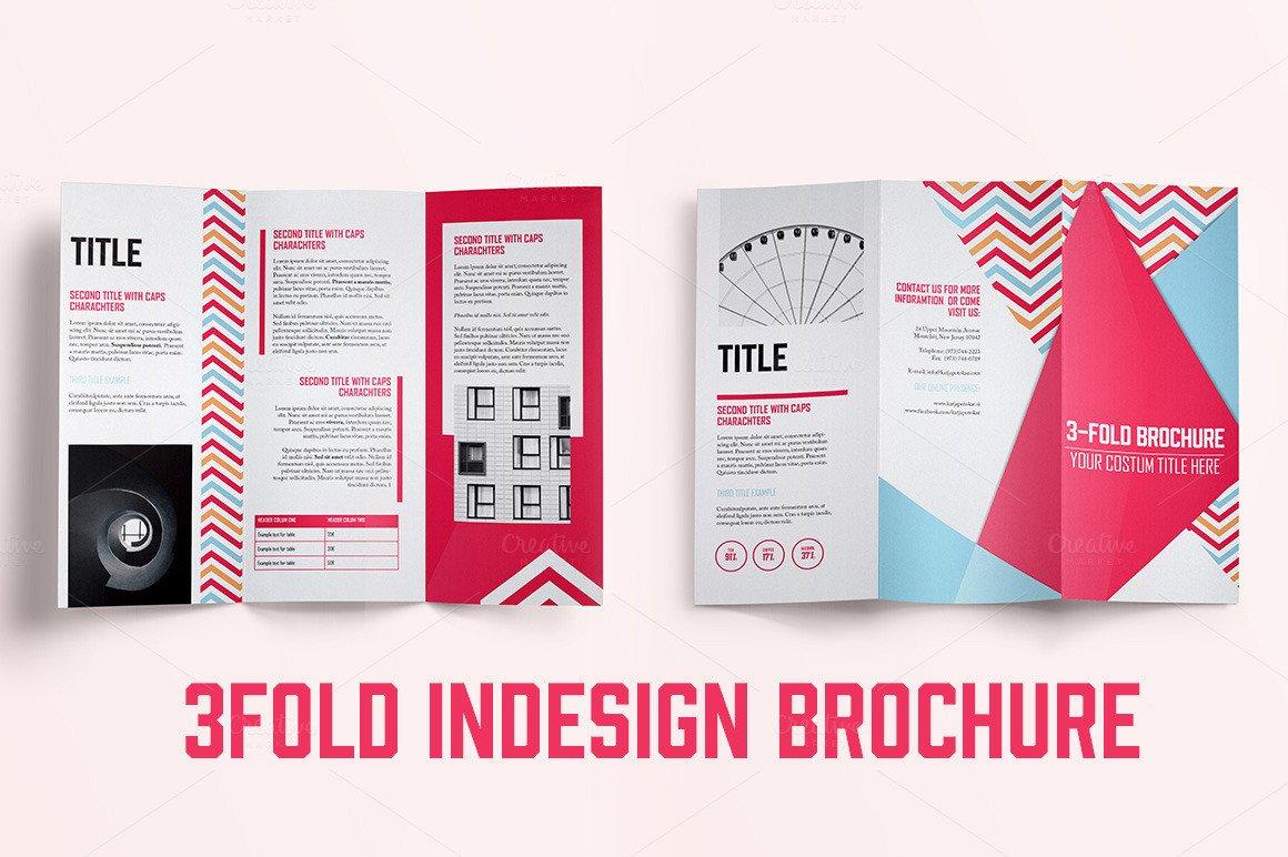 3 Fold Brochures Templates Indesign 3fold Brochure Brochure Templates On Creative