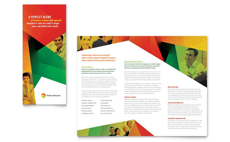 3 Fold Brochures Templates Public Relations Pany Tri Fold Brochure Template Word