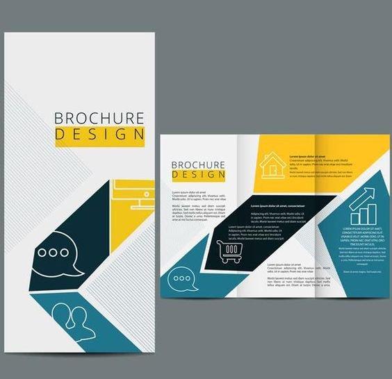 3 Fold Brochures Templates Three Fold Brochure Template Vector Design
