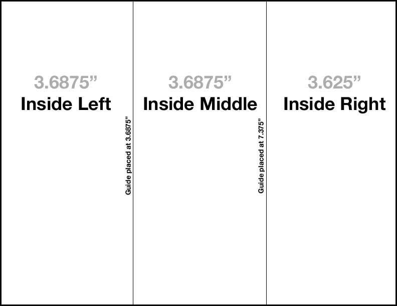 3 Fold Brochures Templates Tri Fold Brochure Layout