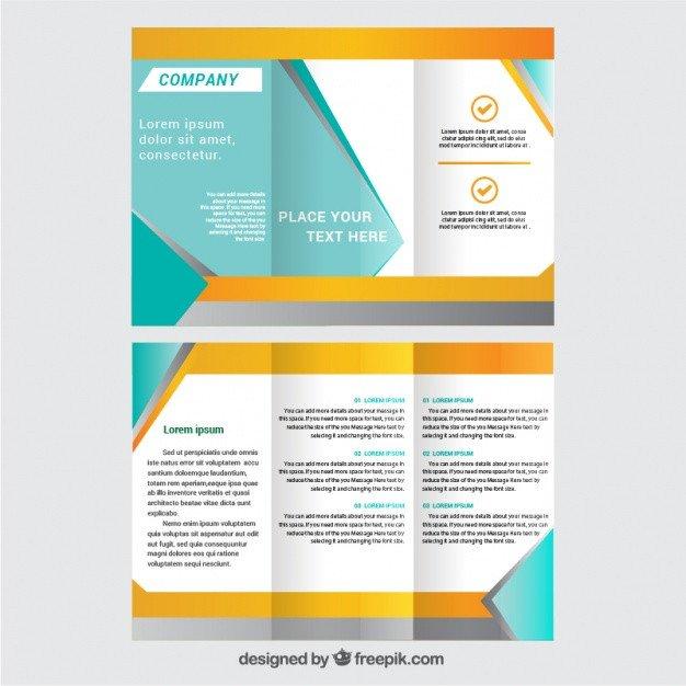 3 Fold Brochures Templates Trifold Brochure Template Vector