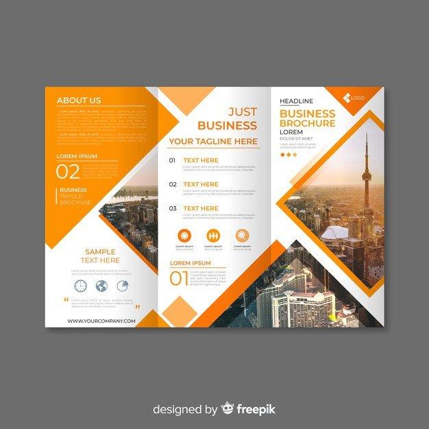 3 Fold Brochures Templates Trifold Business Brochure Template Vector