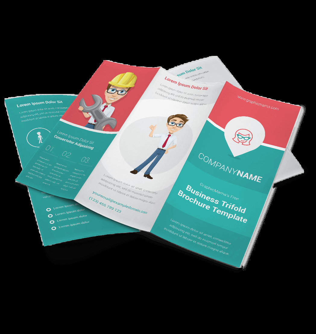3 Fold Brochures Templates Vector Brochure Template Triple My Success