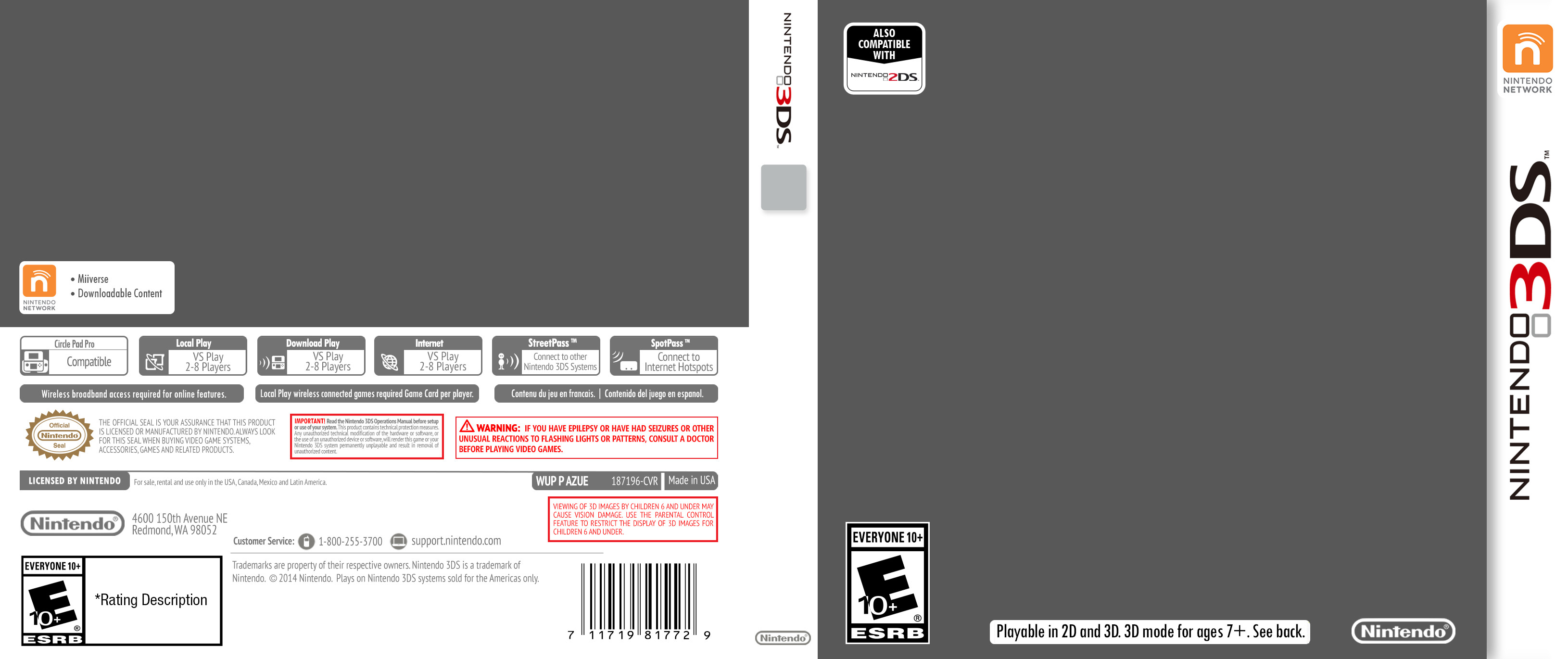 Nintendo 3DS Cover Template by ETSChannel on DeviantArt