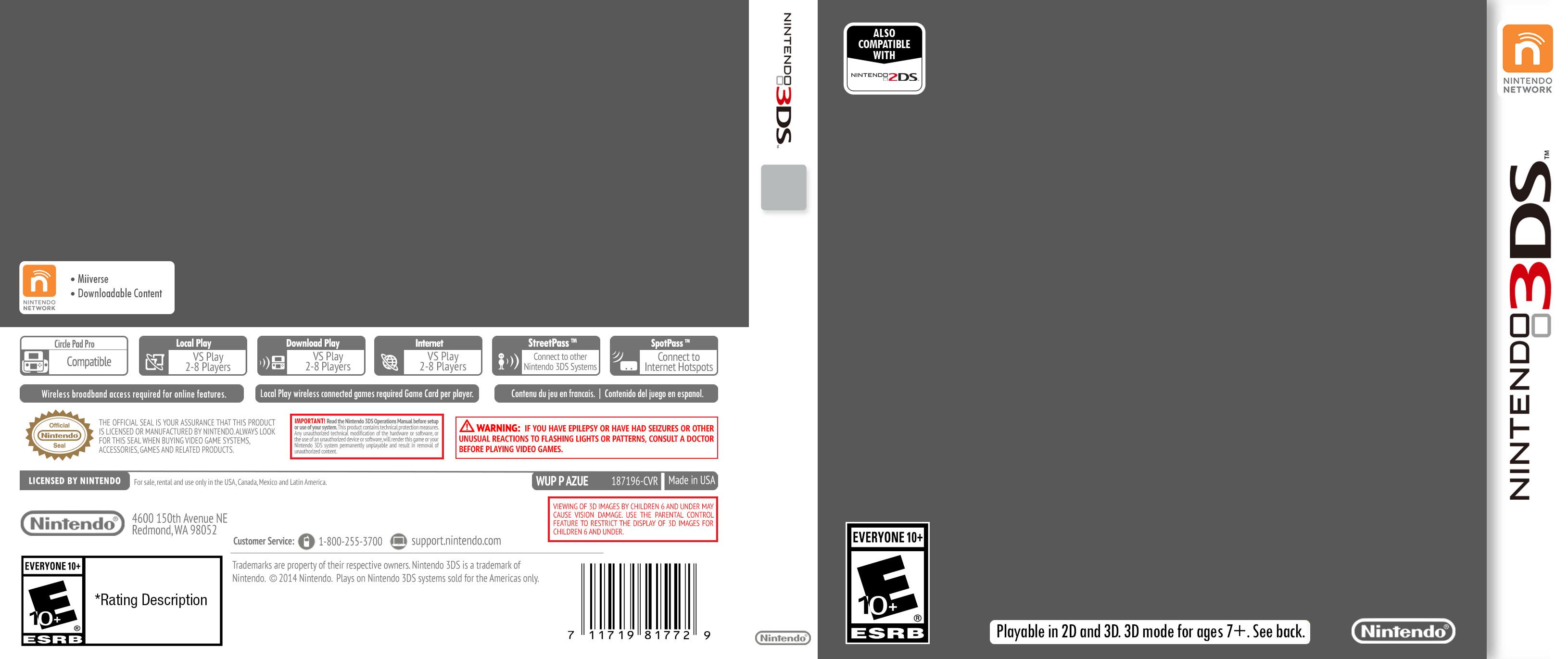 Nintendo 3DS Cover Template by ETSChannel on DeviantArt