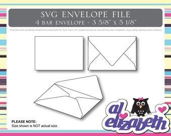 4 Bar Envelope Template 4 Bar Envelopes – Etsy Uk