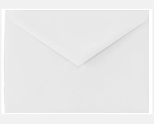 4 Bar Envelope Template Cotton Brilliant White 3 5 8 X 5 1 8 Envelopes