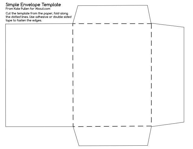 4 Bar Envelope Template Envelope Template