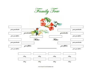 4 Generation Family Tree 4 Generation Family Tree with Siblings Template