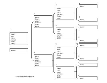 4 Generation Family Tree 4 Generation Family Tree with Statistics