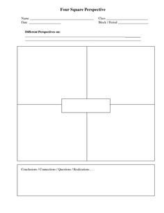 4 Square Writing Templates Four Square Graphic organizer to Help Students organize