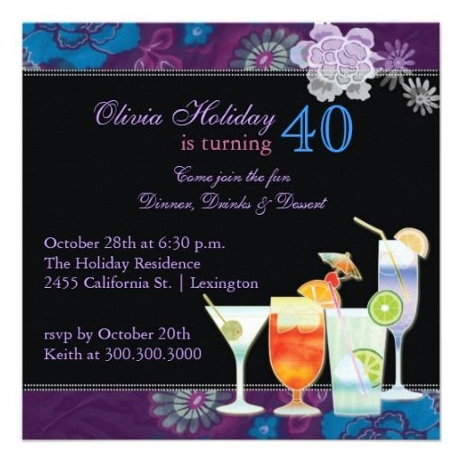 40th Birthday Invitation Wording 21 Best 40th Birthday Invitations Wording Images On
