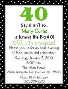 40th Birthday Invitation Wording 40th Birthday Invitation Wording Funny