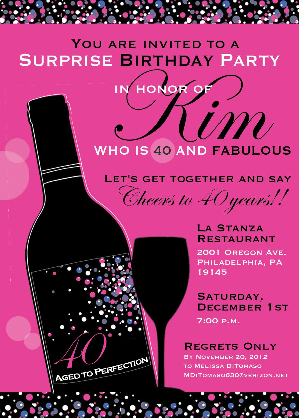 40th Birthday Invitation Wording 40th Birthday Party Invitation Wording