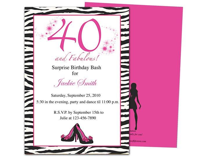 40th Birthday Invitation Wording 40th Birthday Party Invitations Wording