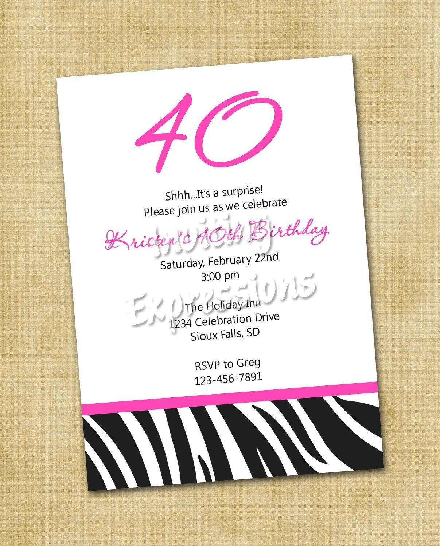 40th Birthday Invitation Wording Surprise 40th Birthday Invitation Wording Samples