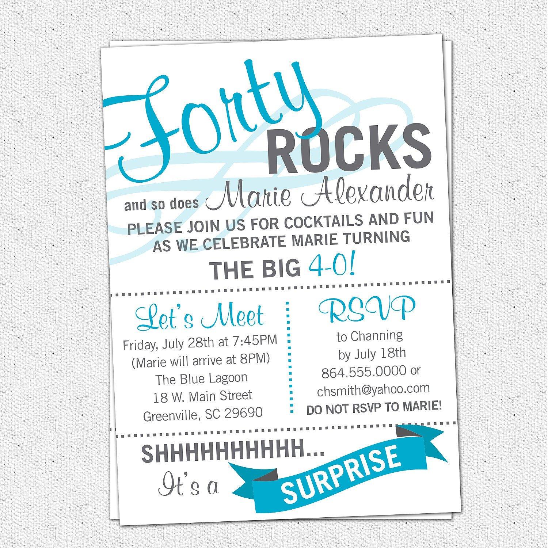 40th Birthday Invitation Wording Surprise 40th Birthday Invitations Wording