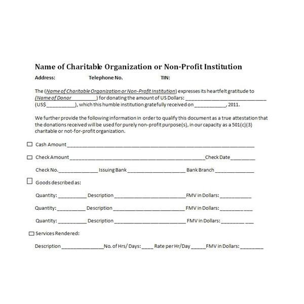 501c3 Donation Receipt Charitable Donation Receipts Requirements as Supporting