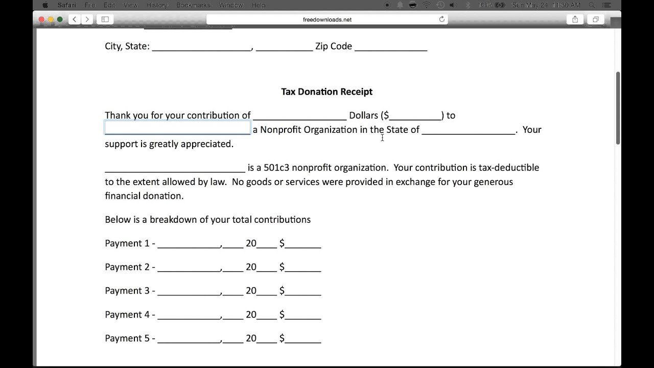 How to Write a 501c3 Donation Receipt Letter PDF