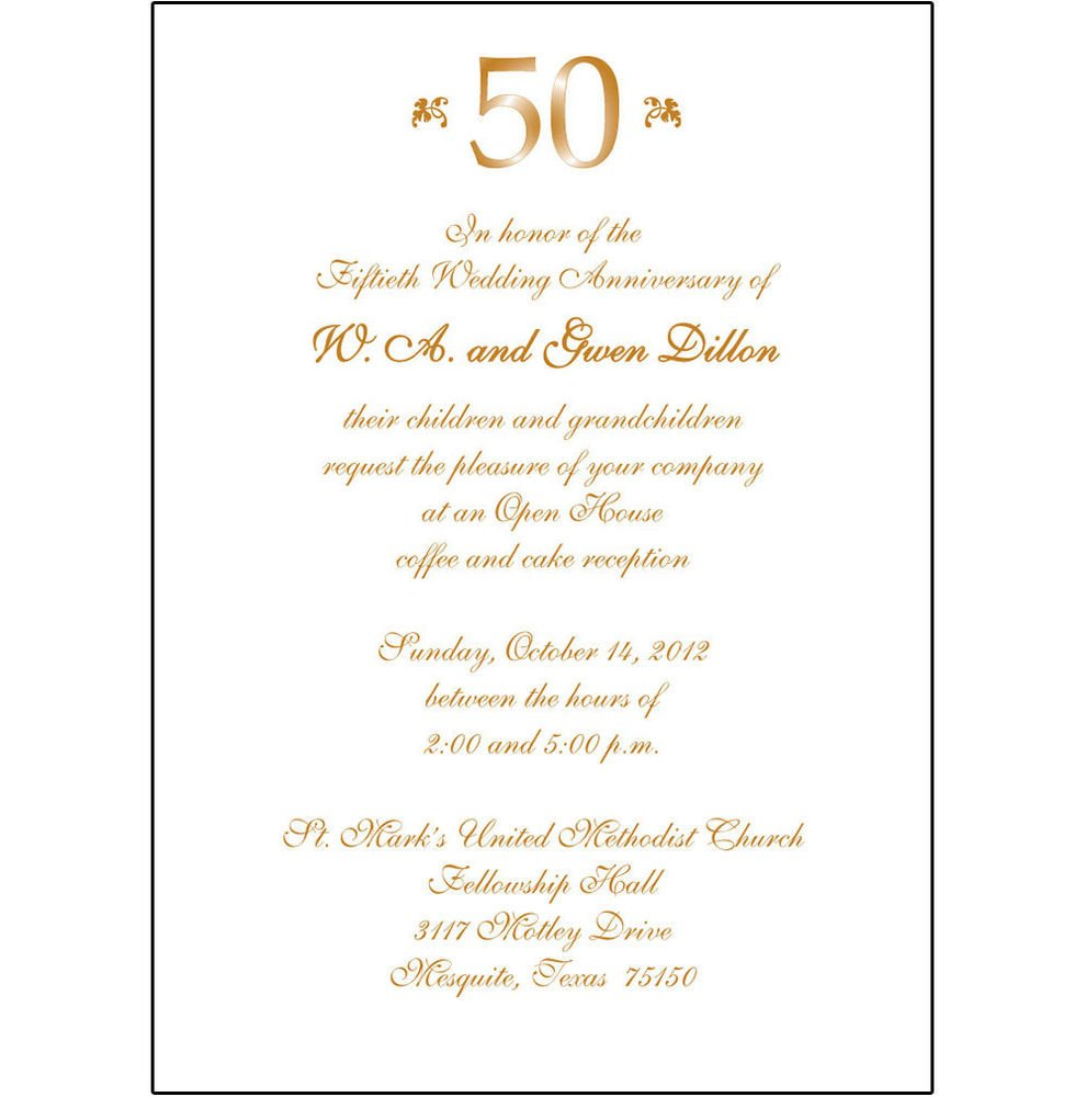 50th Anniversary Invitation Template 25 Personalized 50th Wedding Anniversary Party Invitations