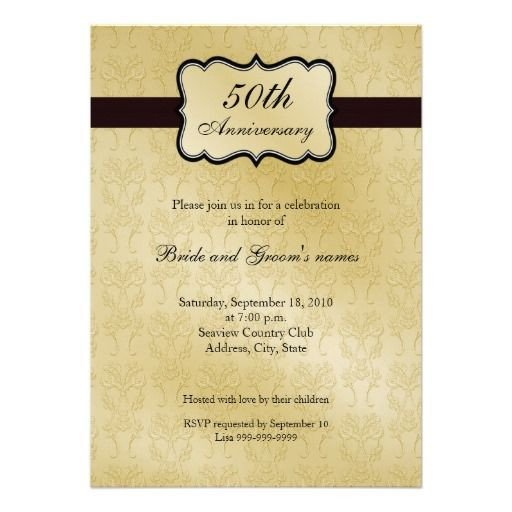 50th Anniversary Invitation Template 50th Anniversary Invitations