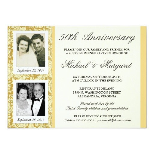 50th Anniversary Invitation Template 50th Anniversary Invitations then & now S