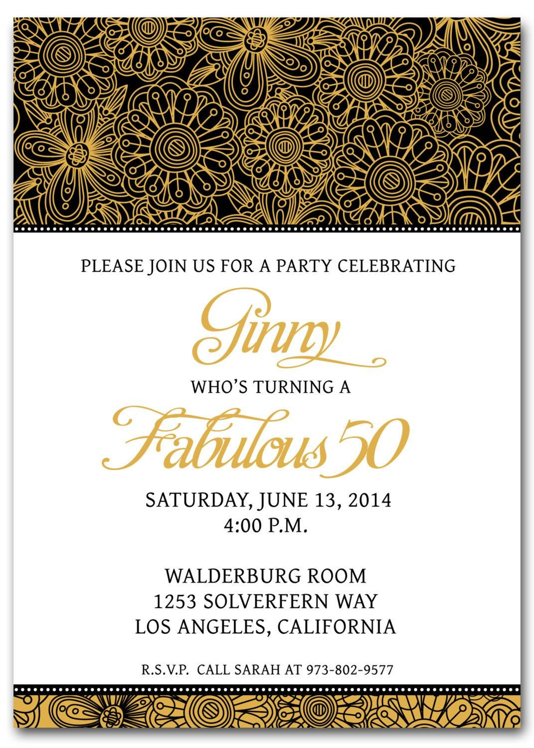 50th Anniversary Invitation Template 50th Birthday Invitation Templates Free Printable
