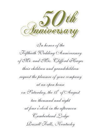 50th Anniversary Invitation Template 50th Wedding Anniversary Invitations